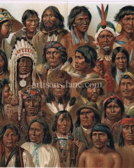 Antique Print American Native Peoples