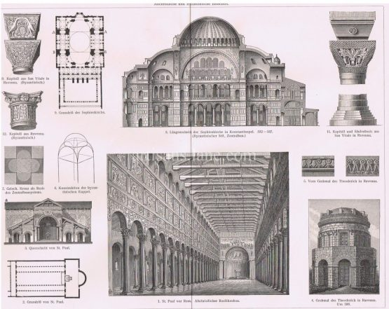 Christian and Byzantine Churches Architecture