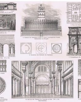 Roman Architecture Antique Print