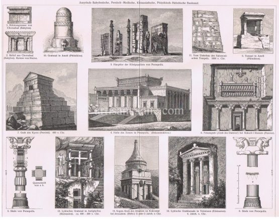 Syrian Babylonian Persian Medical Small Asian Architecture