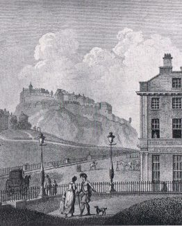 Edinburgh early view of East End of Princes Street