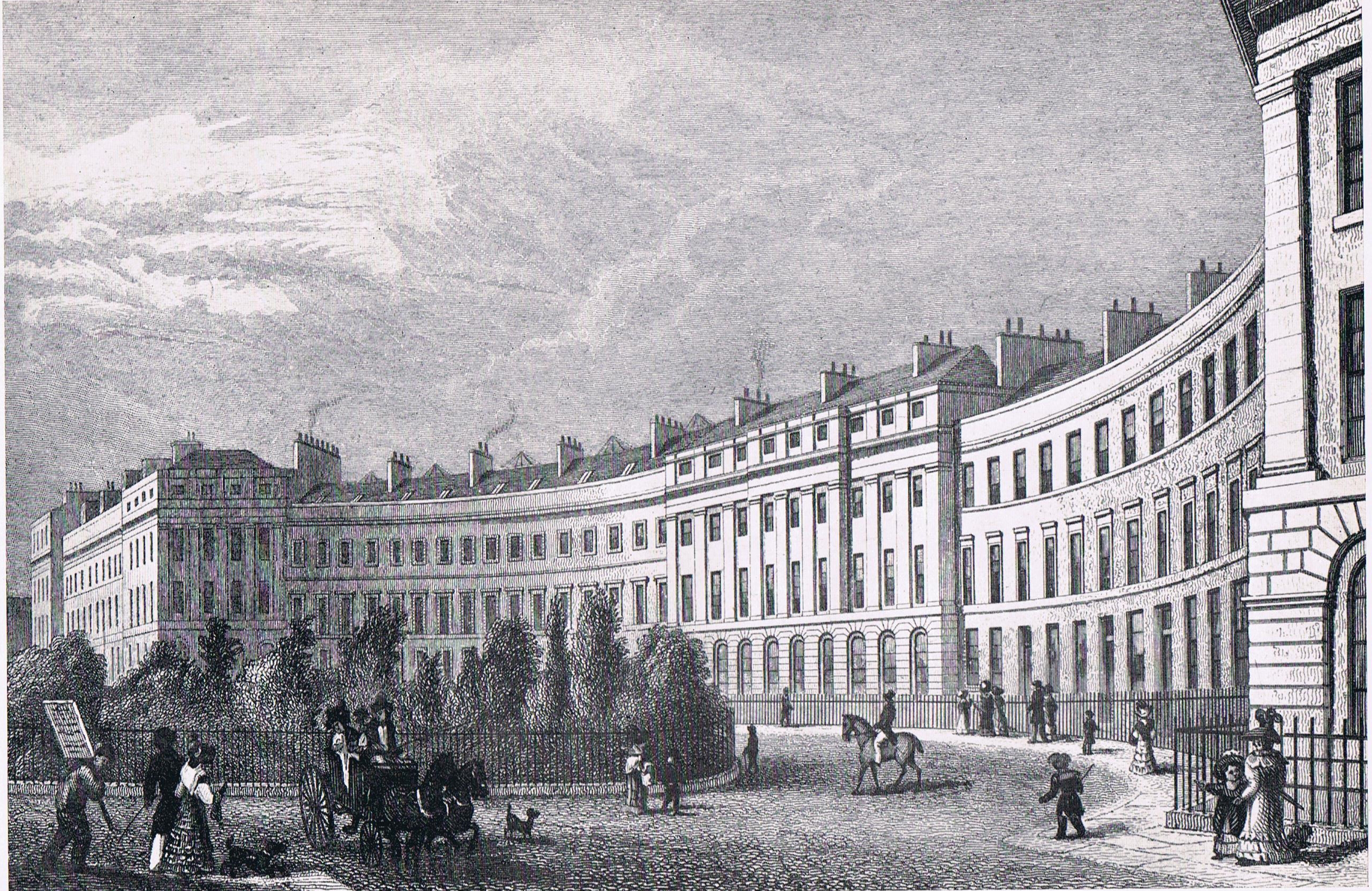 Ainslie Place in Edinburgh in 1829
