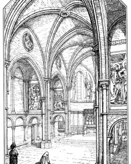 St Margarets Church Interior Barking Road 1876 Print