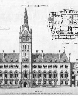 New Law Courts,Judges Lodgings,and Municipal Buildings in Birmingham