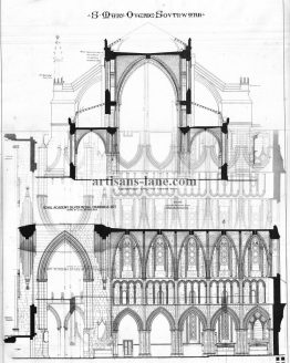 St Mary Overie Southwark Architectural Antique Drawing