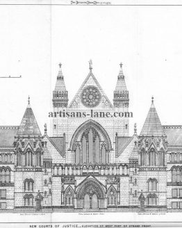 The Royal Courts of Justice 1871 Architectural Design
