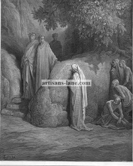 Dante and Spirit of Forest Antique Bible Illustration