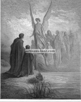 Boat of Souls Dore Bible antique print Purgatorio by Dante