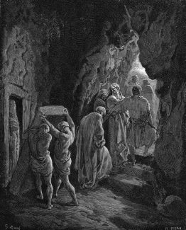 Burial of Sarah 1870 Gustave Dore Antique Print.