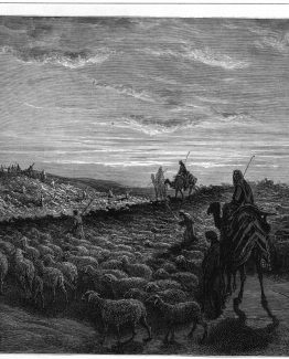 Abram Journeying into Land of Canaan Dore Bible.