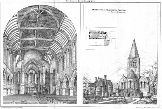 Antique Architectural Design for a Church