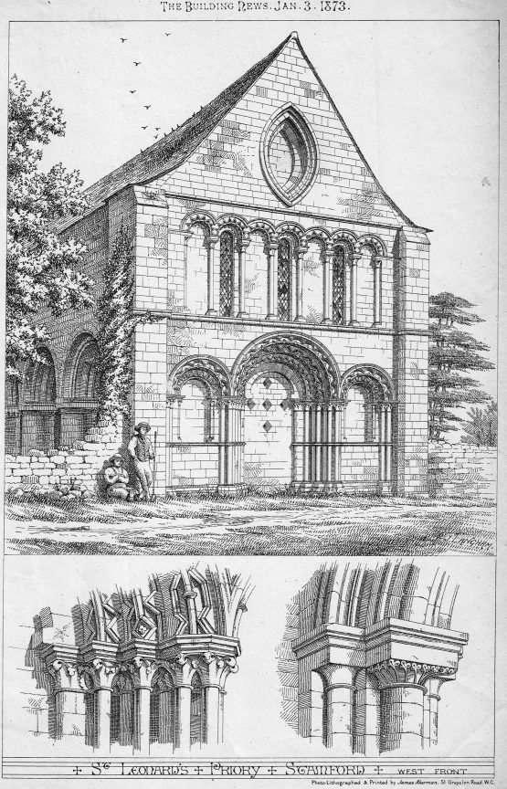 St Leonards Priory in Stamford West Front