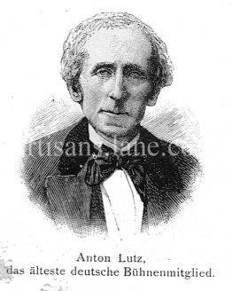 Anton Lutz german stage actor and opera tenor antique print