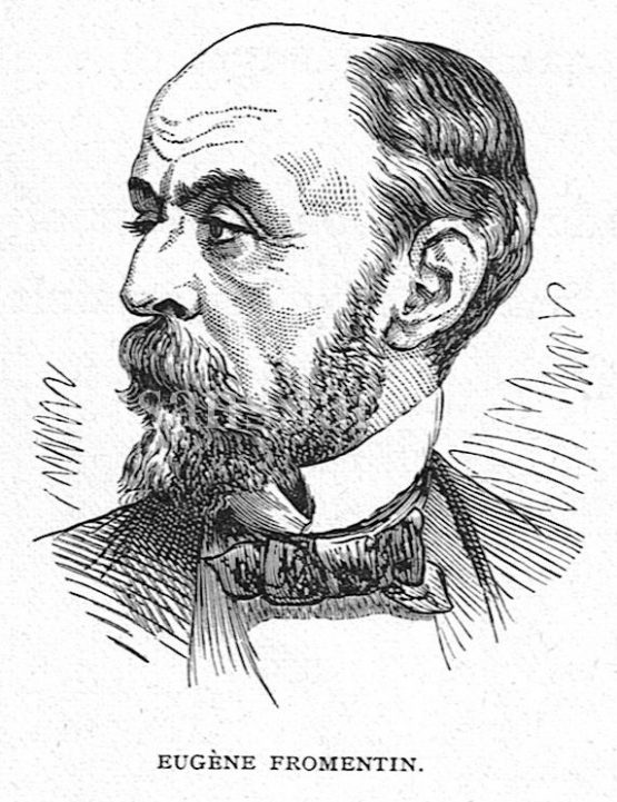 Eugène Fromentin French painter and writer Antique Print