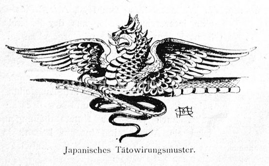 Japanese tattoo pattern antique traditional dragon design