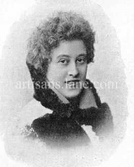 Alma Rügheimer German singer Antique Photograph Music Teacher