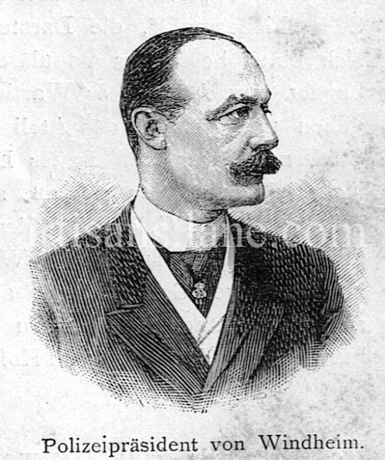 Ludwig von Windheim Police President of Berlin Germany 1895