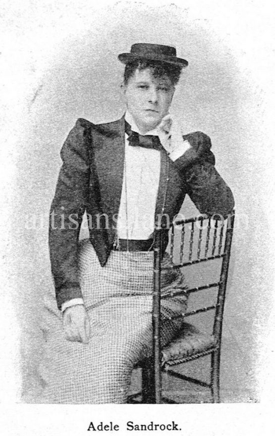 Adele Sandrock German-Dutch actress antique photograph