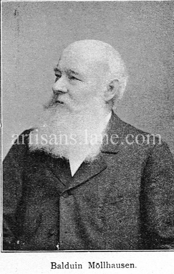 Balduin Möllhausen Antique Photograph long beard