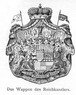 Coat of arms of the German Chancellor illustrated sketch
