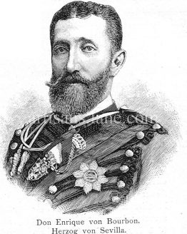 Don Enrique Von Bourbon Duke of Sevilla Antique illustration