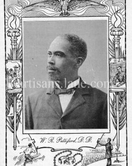 Rev William R. Pettiford,Minister,educator,banker,antique photograph