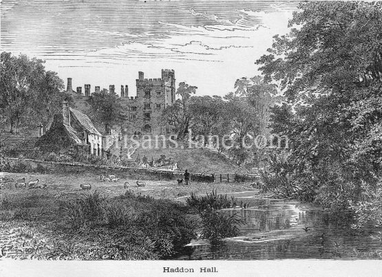 Haddon Hall English country house on the River Wye
