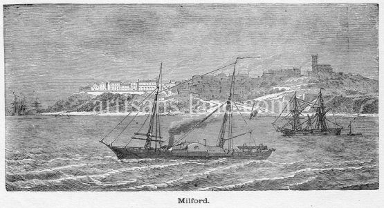Milford Haven in Pembrokeshire, Wales, founded in 1793