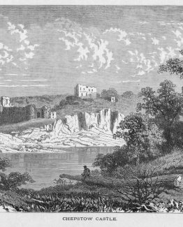Chepstow Castle, Monmouthshire, Wales,River Wye