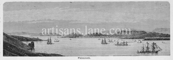 Falmouth,town civil parish and port on the River Fal