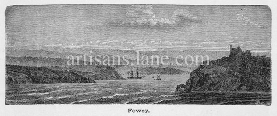 Fowey small town, civil parish and cargo port at the mouth of the River Fowey