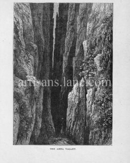 Anna Valley near Eisenach in Thuringa Germany antique print