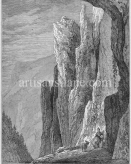 Thorstein Rocks views of Thuringa in Germany antique print