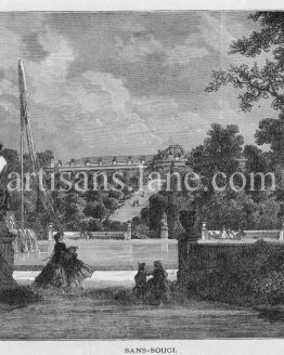 Sanssouci summer palace of Frederick the Great, King of Prussia, in Potsdam, near Berlin