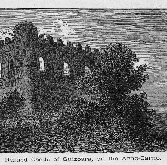 Guizoara Castle on the Arno Garno in Ethiopia ruins