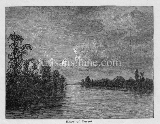 Khor of Desset Inland Nubia wood engraved print