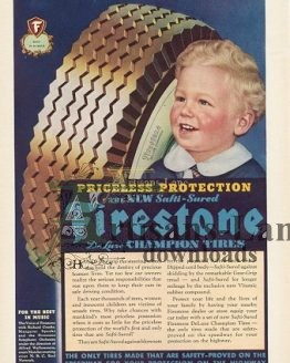 Firestone Tires Cute Blonde Baby
