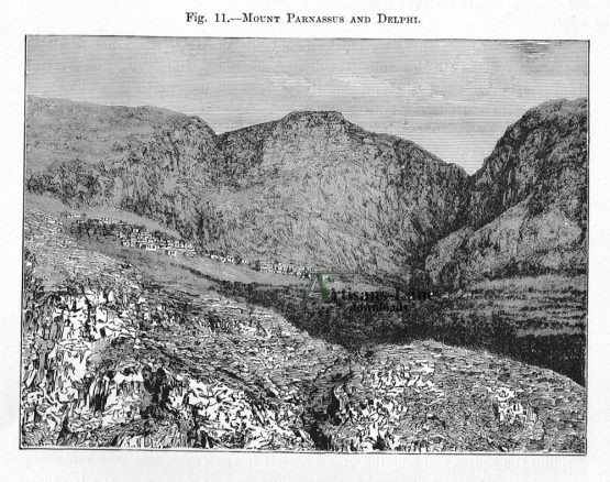 Mount Parnassus and Delphi continental greece