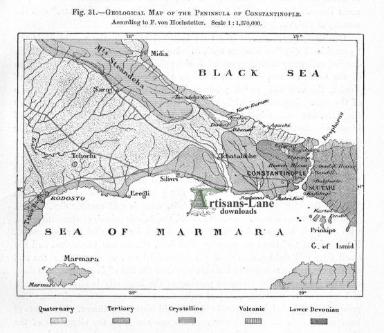Historical Geological Map of the Peninsula of Constantinople