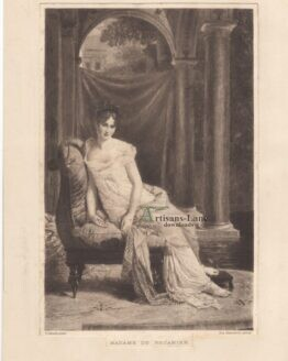 Madame De Recamier Gerard Antique Photogravure